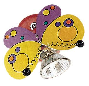 Harry Butterfly Wall Light 1l, Multi-Colored Finish