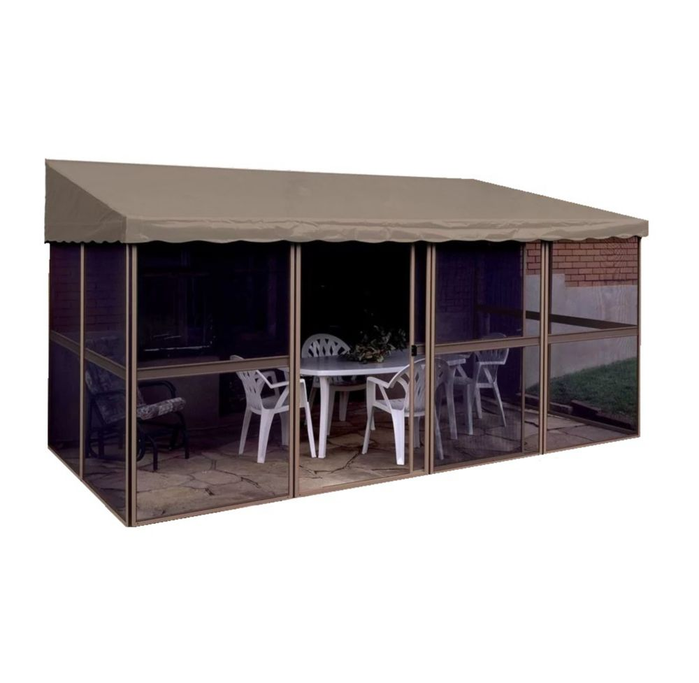 Gazebo Penguin 7 ft. 6-inch x 15 ft. 1-inch Add-a-Room Solarium in Sand/Taupe