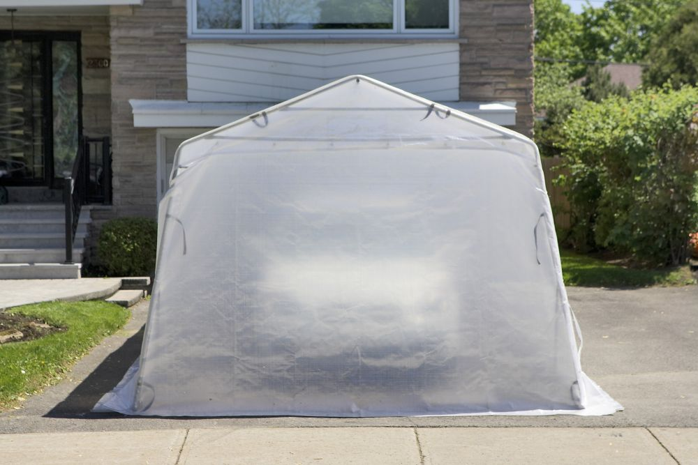 Car Shelter Cougar 11 Feet x19 Feet 6 Inch White Roof C-11X19'6 WHI Canada Discount