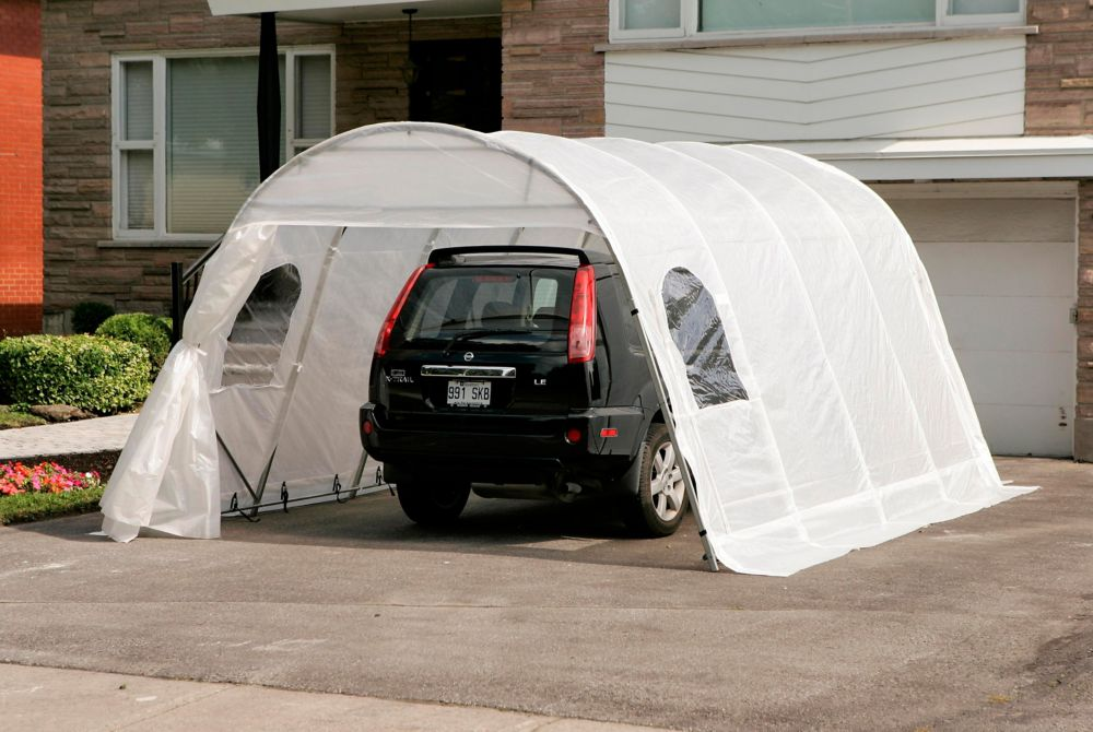 Car Shelter Jaguar 12 Feet x16 Feet Clear Roof with Straps SJ12X16 CLE in Canada