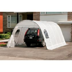 Gazebo Penguin Jaguar 12 ft. x 16 ft. Car Shelter with Clear Roof & Straps