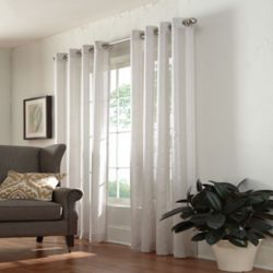 HDC Janne Sheer Grommet Curtain 52 inches width X 84 inches length, Ivory