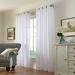 Home Decorators Collection Calisse Room Darkening Lined Grommet Curtain Voile 54 inches width X 95 inches length, White