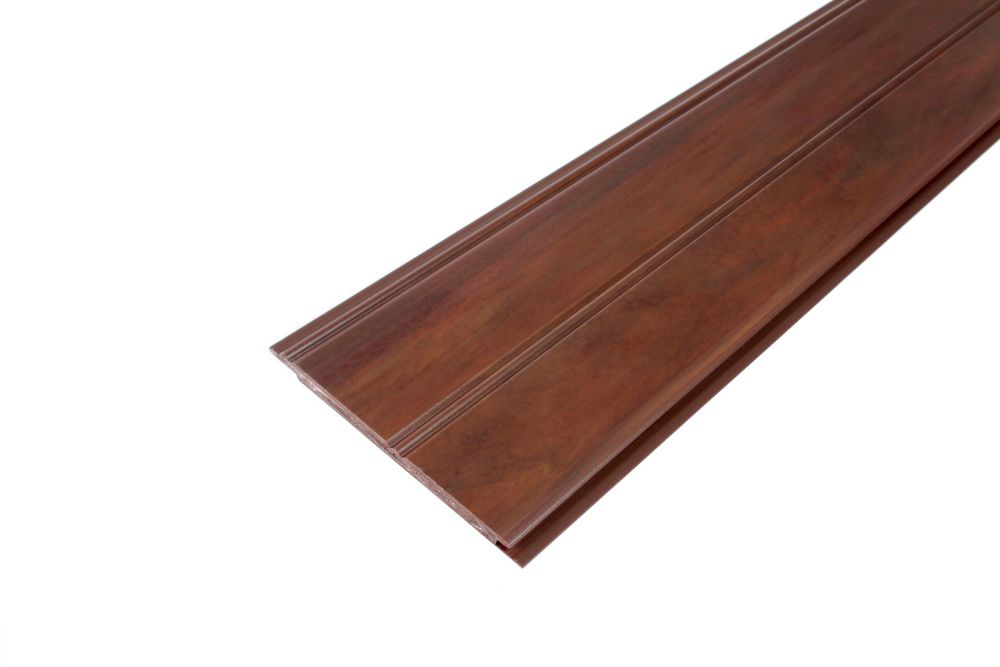 Wainscot Kit - Prefinished Ready to Install - Fauxwood Cafe - 4 Pieces of 1/4 In. x 4 In. x 96 In.