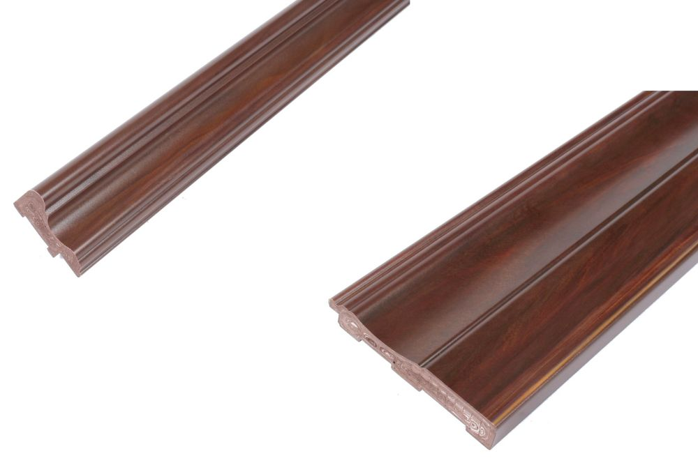 4 Inch Chair Rail Part - 34: Chair Rail U0026 Baseboard Kit - Prefinished Ready To Install - Fauxwood Cafe -  2 Pieces