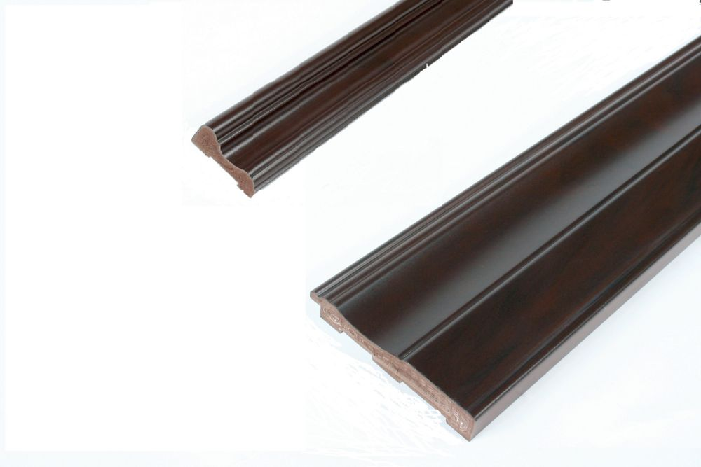 Chair Rail & Baseboard Kit - Prefinished Ready to Install - Fauxwood Espresso - 2 Pieces For 1/4 In. Wainscot Beadboard
