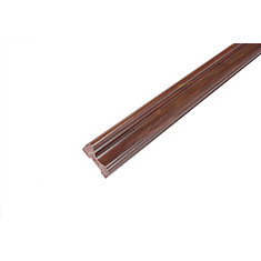 Chair Rail - Prefinished Ready to Install - Fauxwood Cafe - 5/8 In. x 13/16 In. x 8 Ft.