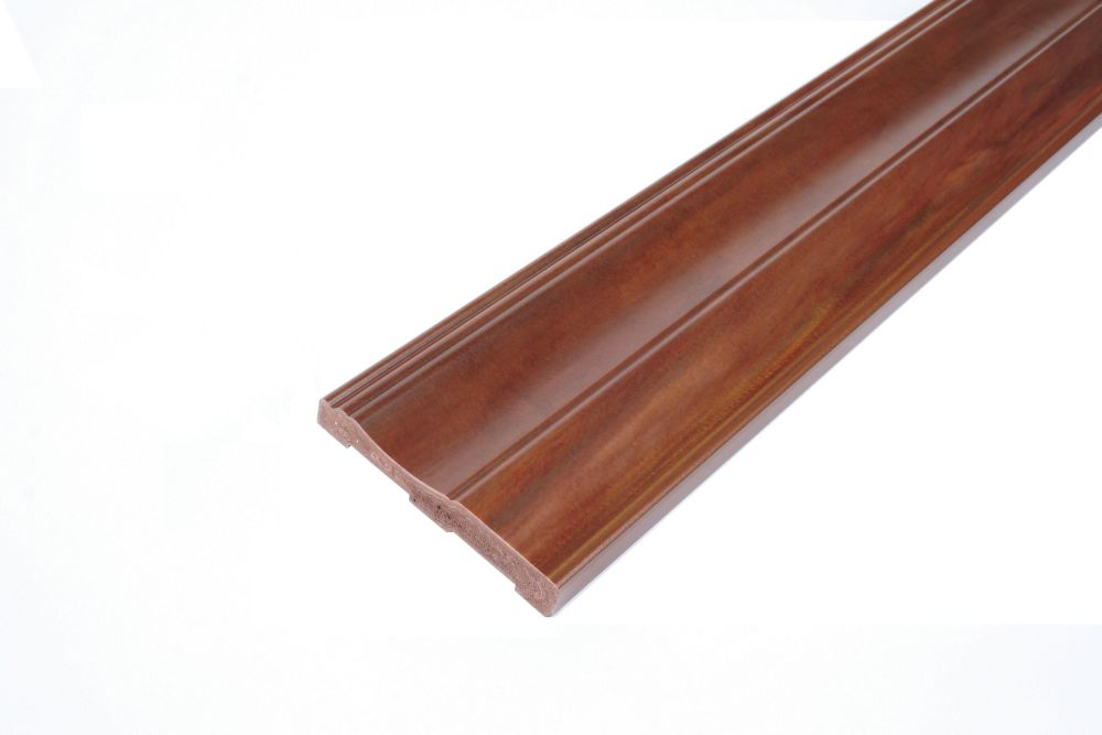 Baseboard - Prefinished Ready to Install - Fauxwood Cafe - 3-1/2 In. x 5/8 In. x 8 Ft.