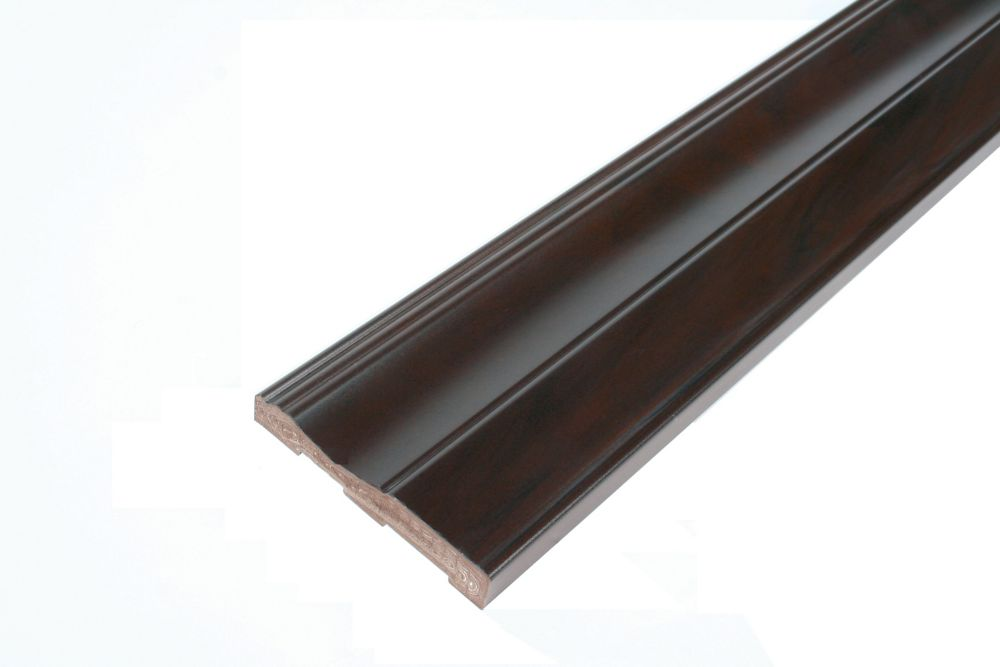 Baseboard - Prefinished Ready to Install - Fauxwood Espresso - 3-1/2 In. x 5/8 In. x 8 Ft.