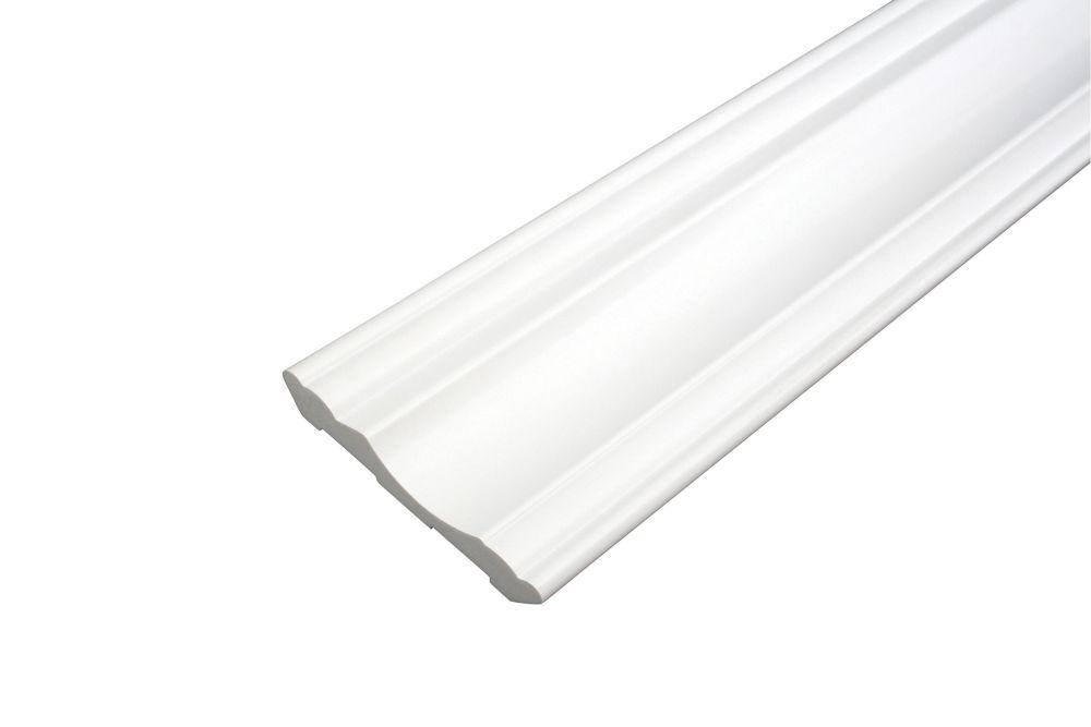 O'gee - Prêt à installer - Fauxwood Blanc - 3-1/2 po. x 5/8 po. x 8 pi