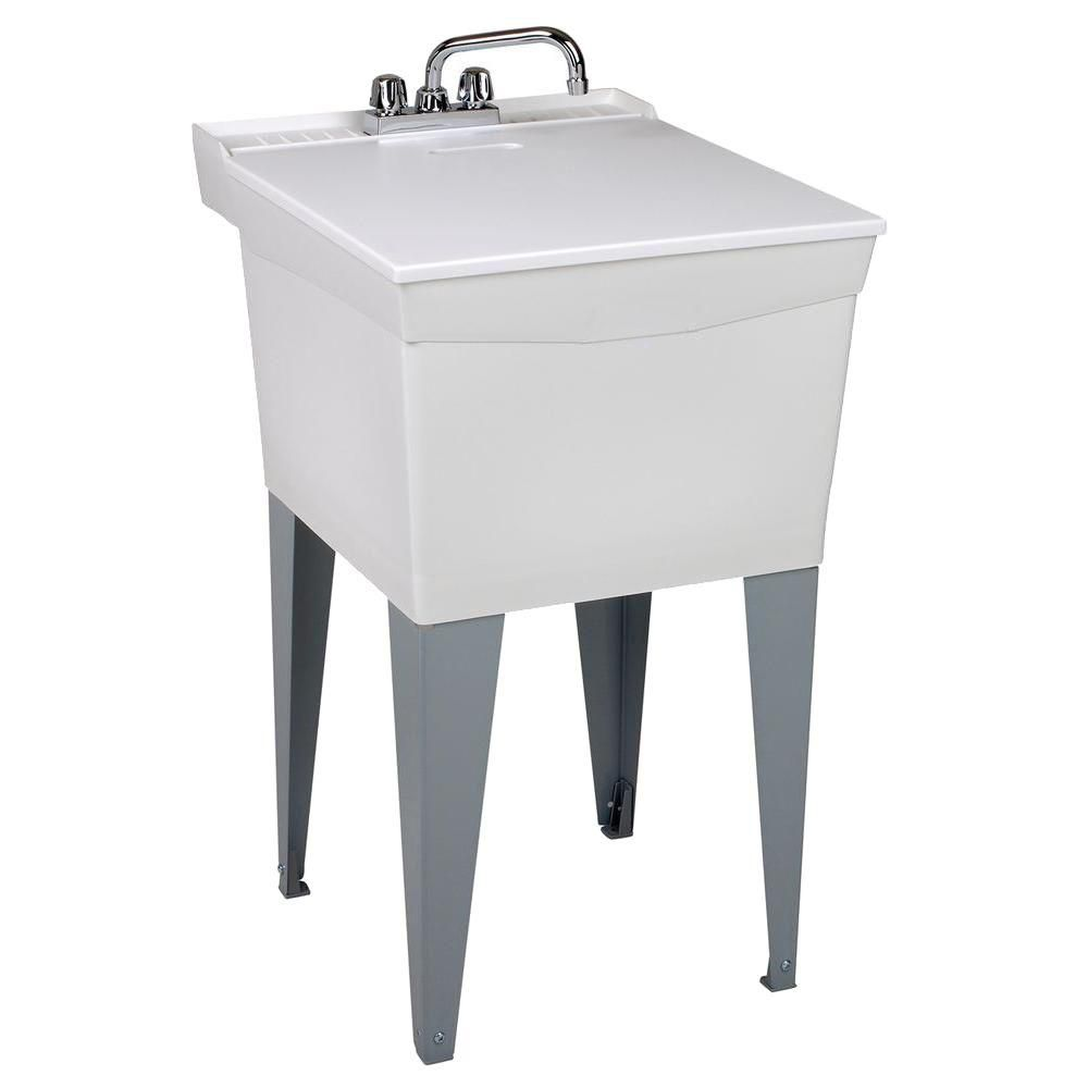 Utilatub Combo Laundry Tub with Faucet, Supply Lines, P-Trap