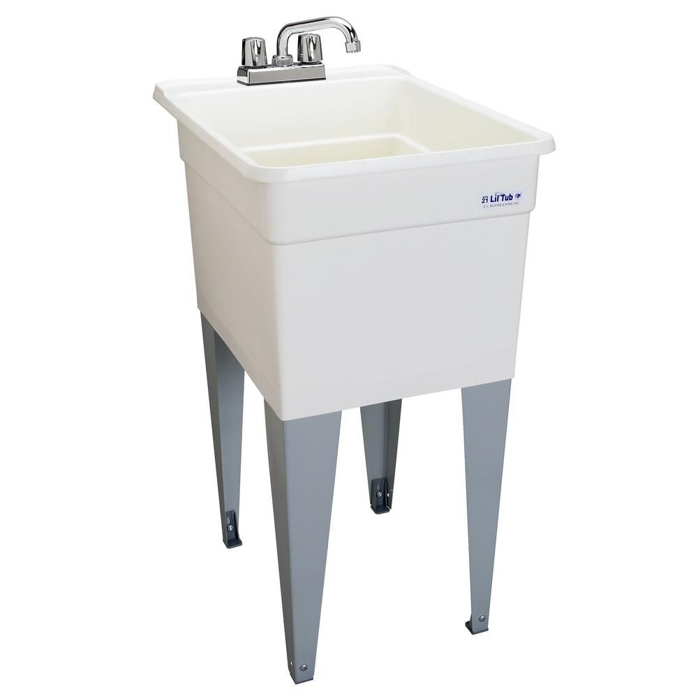 MUSTEE LilTub Laundry Tub Single 18 In. wide The Home Depot Canada