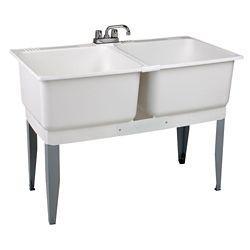 MUSTEE Cuve de lessivage Utilatwin avec robinet, tuyaux dalimentation et siphonP