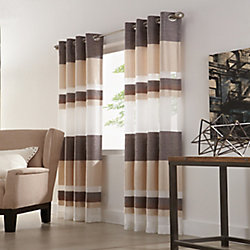 Home Decorators Collection Talia Sheer Grommet Curtain 52 inches width X 84 inches length, Taupe