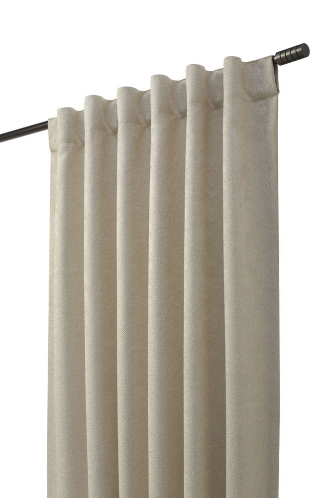 Panneau à ourlet passe-tringle/languette au dos, ivoire, 50 x 95