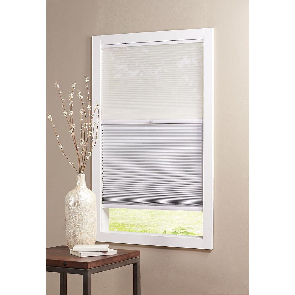 Home Decorators Collection Cordless Day/Night Cellular Shade Sheer/Shadow White 48-inch x 72-inch (Actual width 47.625-inch)