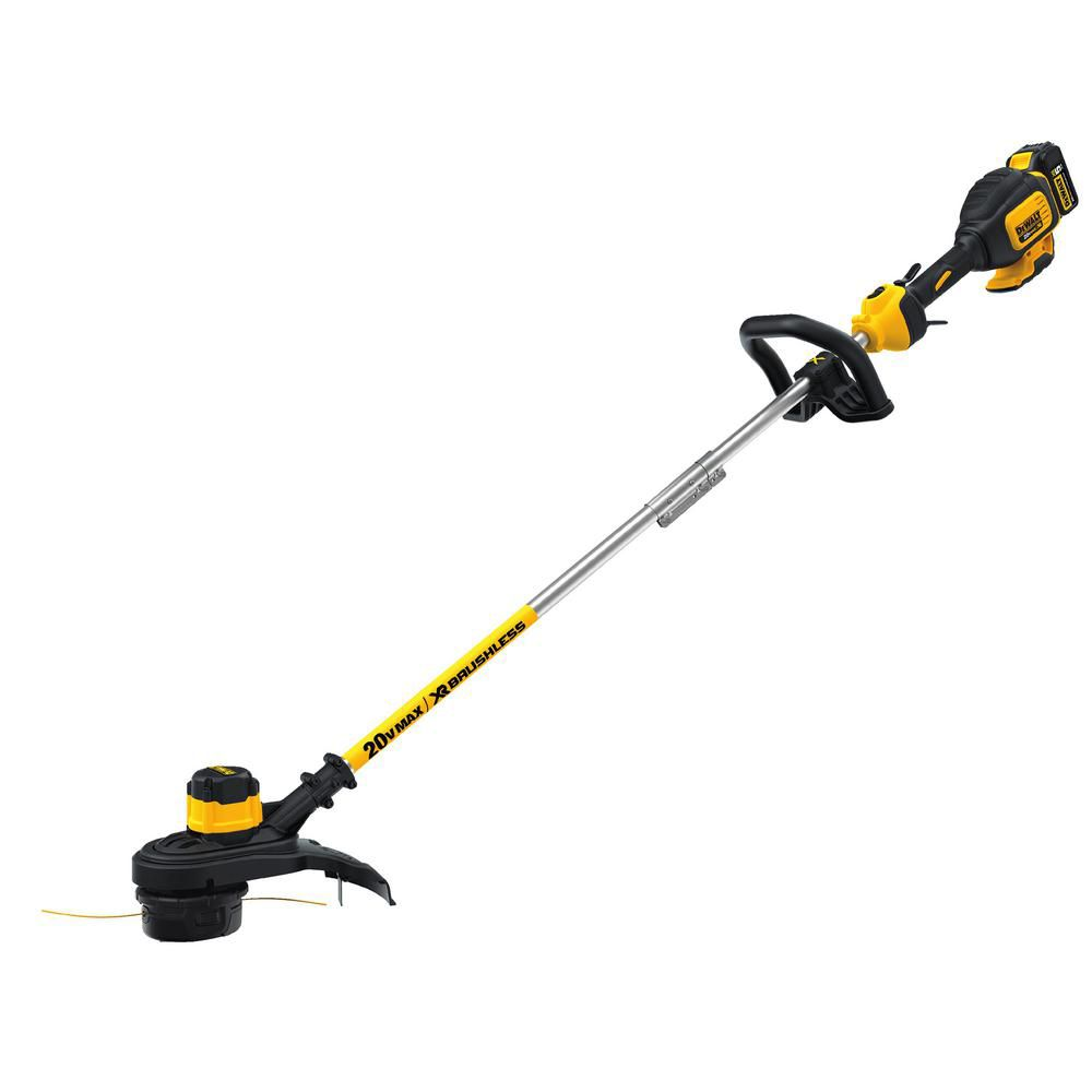 13-inch 20V MAX Li-Ion Cordless Brushless Dual Line String Grass Trimmer with Battery & Charger