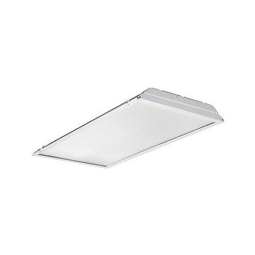 Lithonia Lighting 2 ft. x 4 ft. White LED Lay-In Troffer with Prismatic Lens