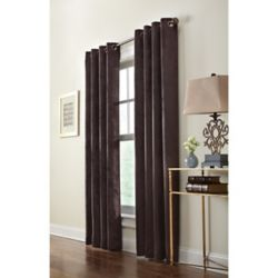 Home Decorators Collection Brown Polyester Faux Swede Curtain - 54-inch x 84-inch with Grommets in Oil-Rubbed Bronze