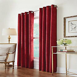 Home Decorators Collection Navar 100% Blackout Grommet Curtain 54 inches width X 84 inches length, Burgundy