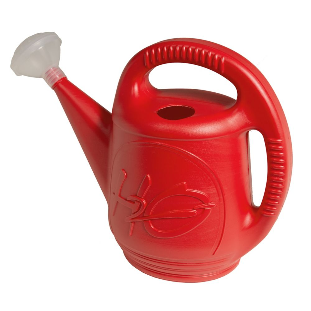 Watering Can H2O Red 2 Gallon