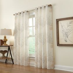 HDC Lana Light Filtering Grommet Curtain 50 inches width X 84 inches length, Ivory