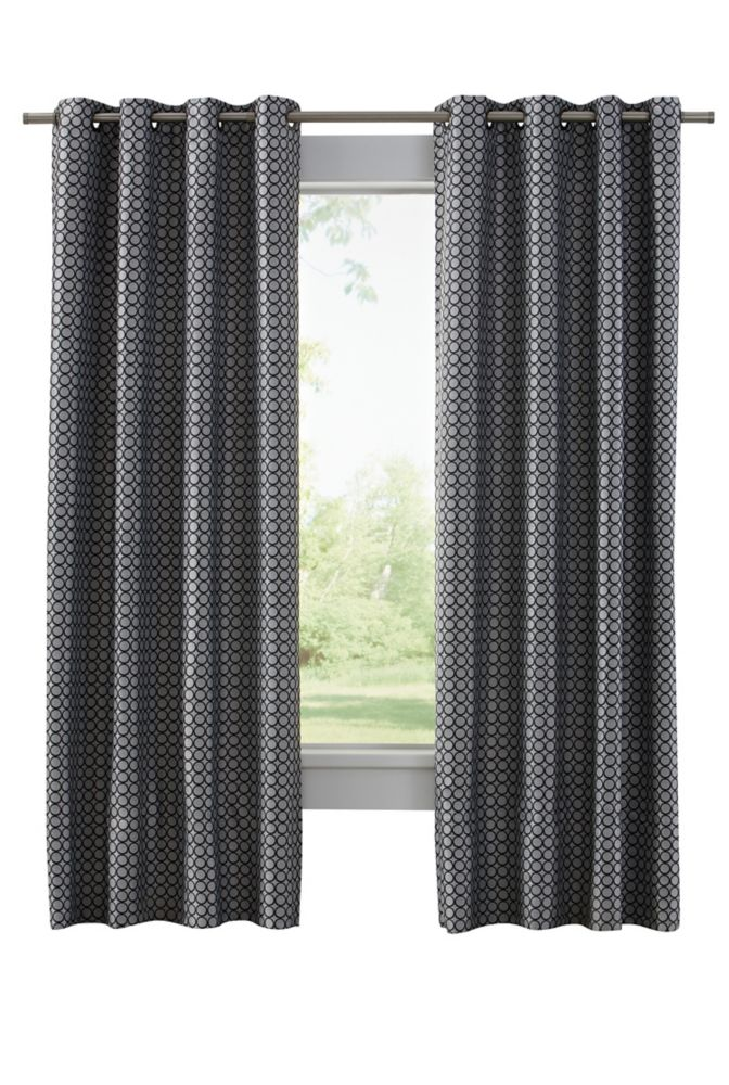 Home Decorators Collection Grommet Black 50 X 95 The Home Depot Canada