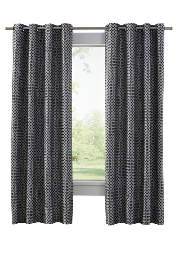 Home Decorators Collection Grommet, Black, 50 x 95