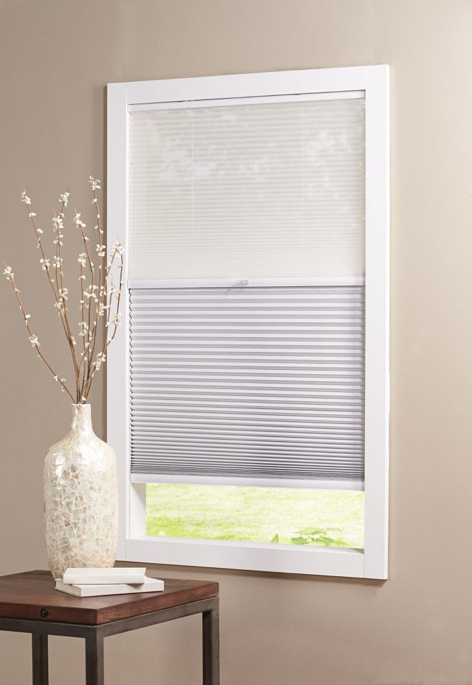 Home Decorators Collection Cordless Day/Night Cellular Shade Sheer/Shadow White 23-inch x 72-inch (Actual width 22.625-inch)
