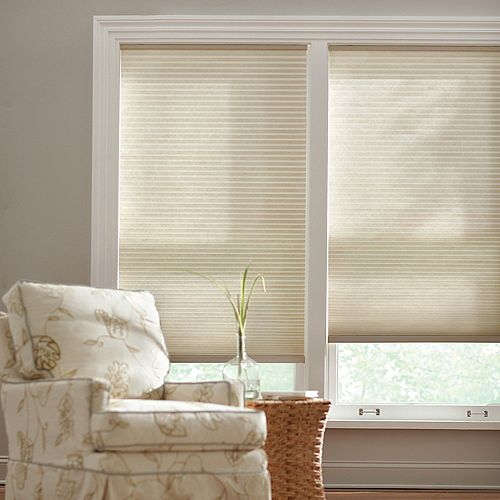 Home Decorators Collection Parchment 9/16-inch Cordless Light Filtering Cellular Shade - 60-inch W x 48-inch L (Actual Size 59.625-inch W x 48-inch L)