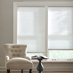 Cordless Light Filtering Cellular Shade Snow Drift 60-inch x 48-inch (Actual width 59.625-inch)