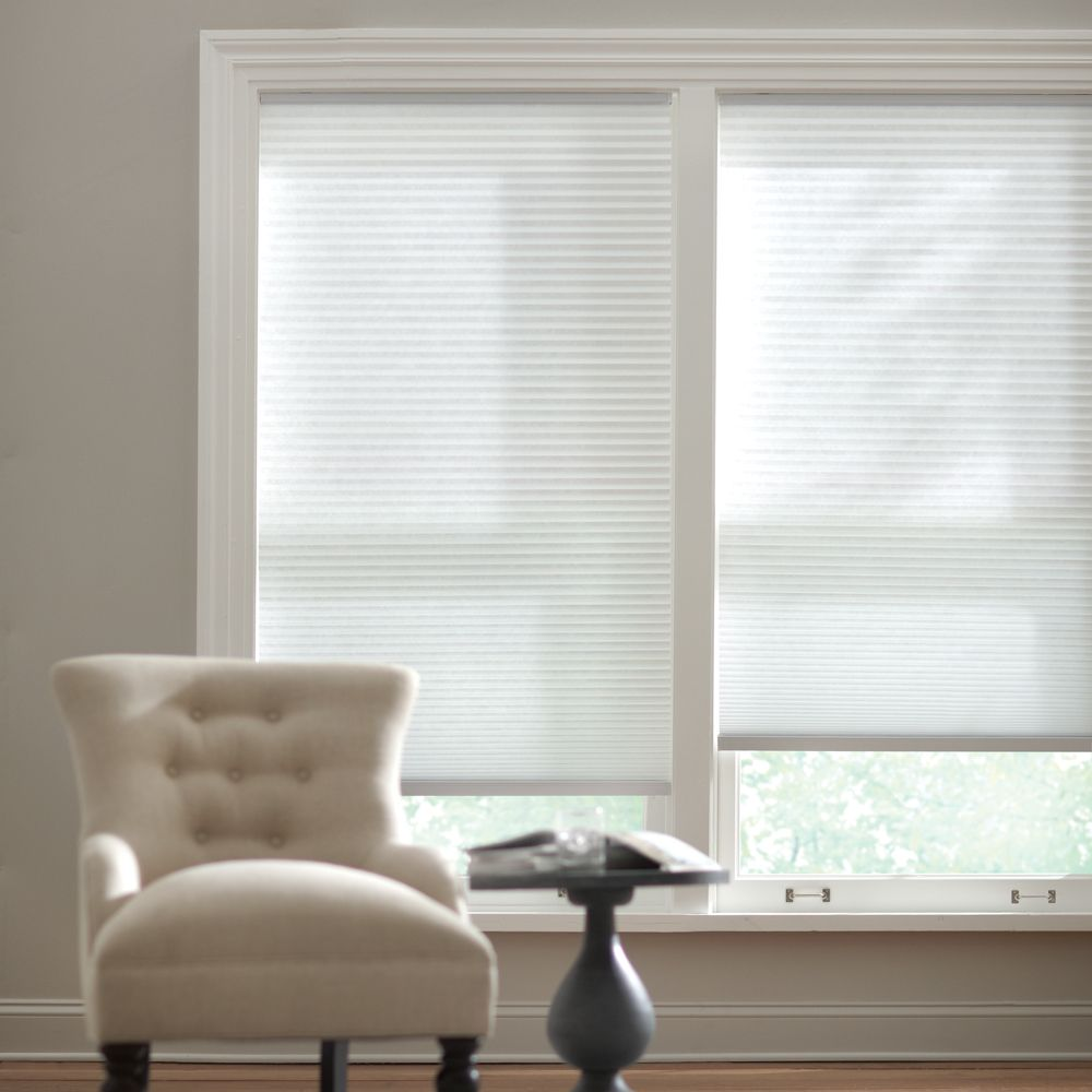 Home Decorators Collection Cordless Light Filtering Cellular Shade Snow Drift 60-inch x 48-inch (Actual width 59.625-inch)