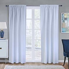 Blackout Curtain Liner, White, 45X88