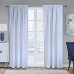 HDC 100% Blackout Curtain Liner Universal Hanging 45 inches width X 88 inches length, White