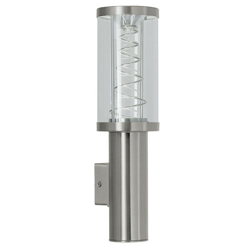 Roi Outdoor Wall Light 1l, Silver Finish, Opal Plastic Shade