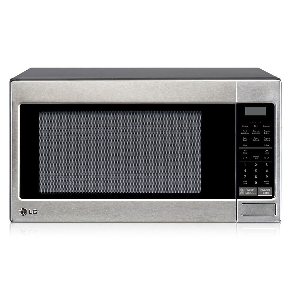2.0 cu. ft. Countertop Microwave Oven with Optional Built-In Trim Kit in Stainless Steel