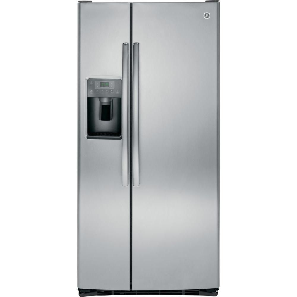 23.1 cu. ft. Side-by-Side Refrigerator with Dispenser LED Lights and Ice Maker in Stainless Steel