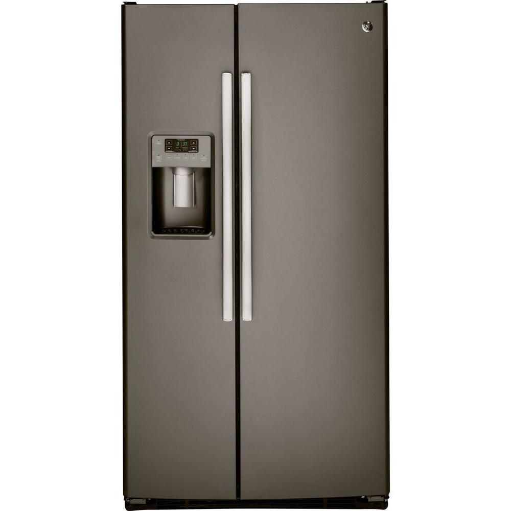 GE 33-inch 23.1 cu. ft. Side by Side Refrigerator in Slate