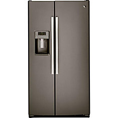 36-inch 25.4 cu. ft. Side by side Refrigerator in Slate