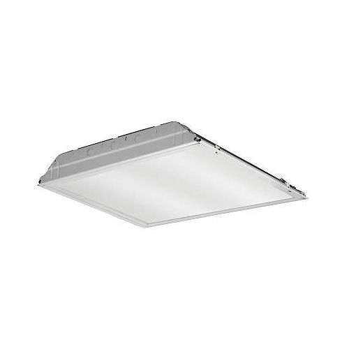 Lithonia Lighting 2 ft. x 2 ft. White LED Lay-In Troffer with Prismatic Lens
