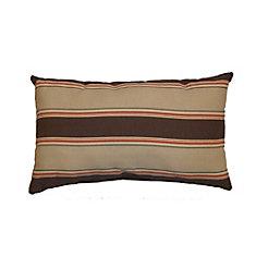 Outdoor Conversation Chair Toss Cushion in Brown Stripe