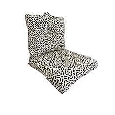Outdoor Deep Seating Cushion in Geometric Pattern