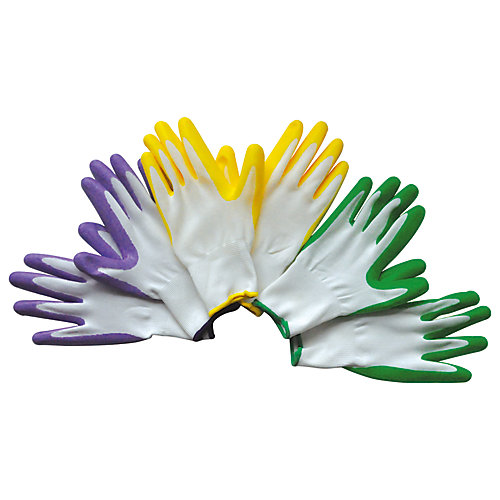 Medium Garden Gloves-Multi color (3-Pack)