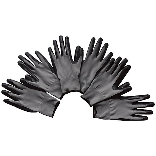 Extra Large Garden Gloves-Black (3-Pack)