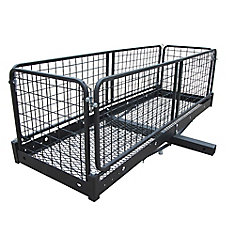 Folding Trailer Hitch Cargo Carrier (500 lb. Capacity)