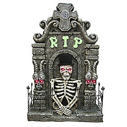 Home Accents Holiday 4 ft Lighted Screaming Tombstone