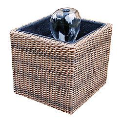 Koolscapes Trousse de bassin en osier pour terrasse/balcon