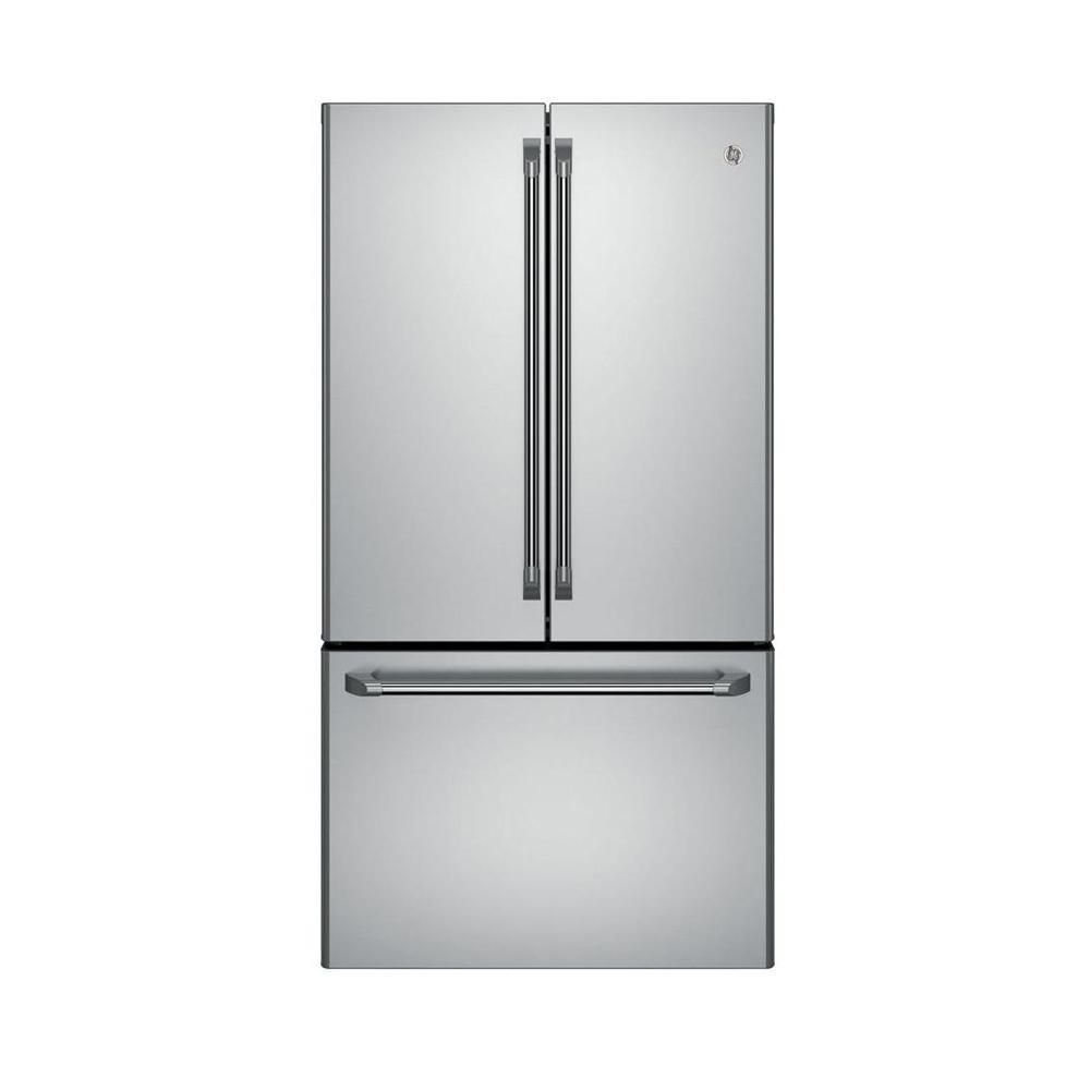 Café 23.1 cu. ft. Counter-Depth French-Door Refrigerator with Internal Water Dispenser in Stainless Steel - ENERGY STAR®