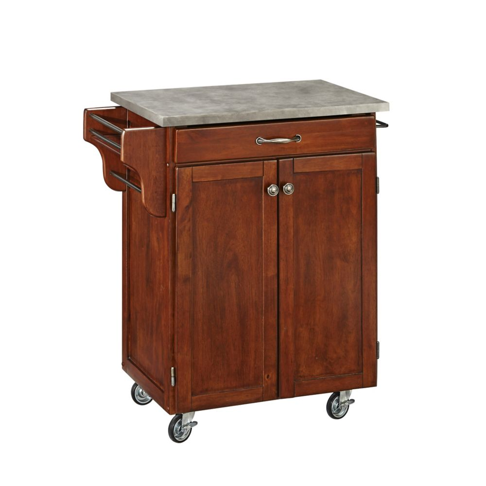Cherry Cuisine Cart with Concrete Top