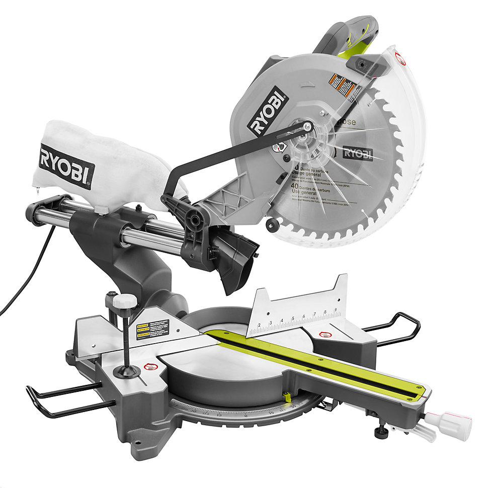 15 Amp 12-Inch Sliding Miter Saw with Laser